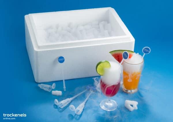 Cocktailbox-Trockeneis-Cocktailsticks