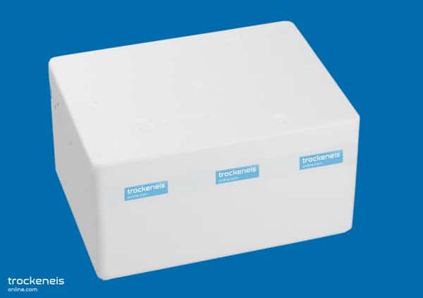 leere Styroporbox für Trockeneis
