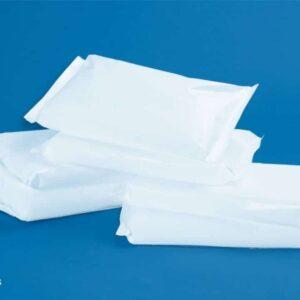 Trockeneis Scheiben verpackt in Papier für Kühltransporte